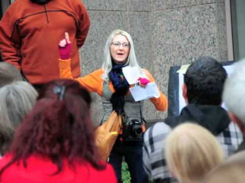 Hot Occupy Girl Speaks @ Protest