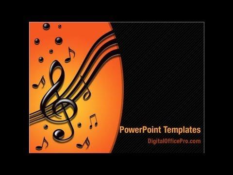 Music Tune Powerpoint Template Backgrounds Digitalofficepro 04663