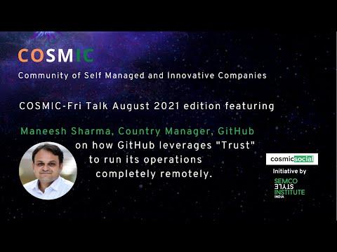 COSMIC Friday Talk with Maneesh Sharma 202108