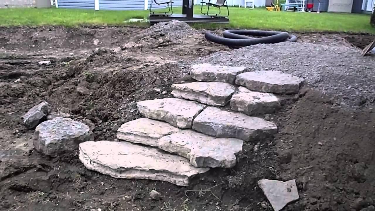 Marches en pierres naturelles qu bec youtube - Pierres naturelles pour terrasse ...