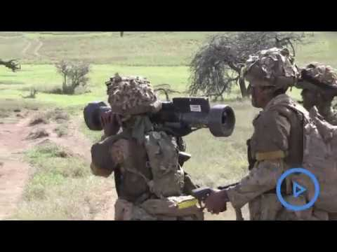 British soldiers train in massive war games in Kenya