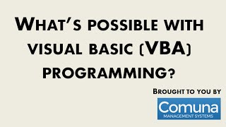 what's Possible In Visual Basic (VBA) for Microsoft Office - Demonstration