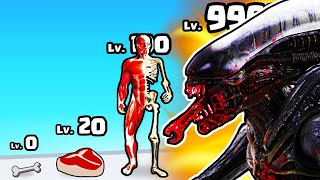 GROWING a BONE to MAX LEVEL ALIEN BODY in Flesh It Out
