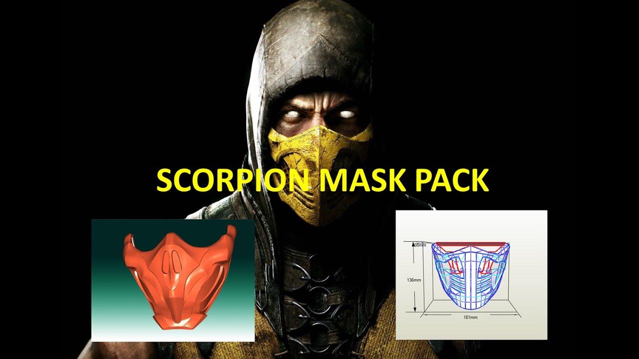 Best Mortal Kombat Mask Scorpion Pdo Tutorial Mascara Scorpion