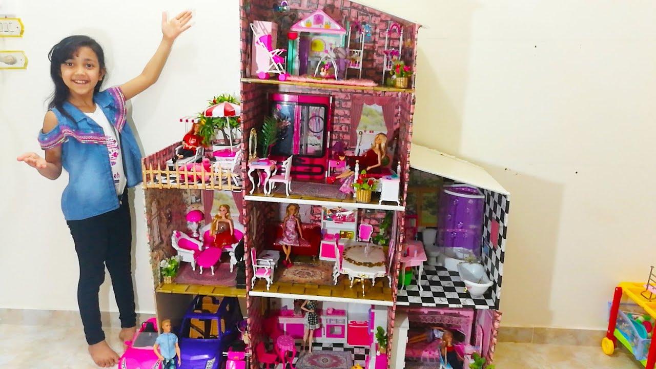 بيت باربي خشب دكان الطفل لبيع العاب الاطفال