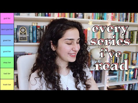 tier ranking every book series i've ever read