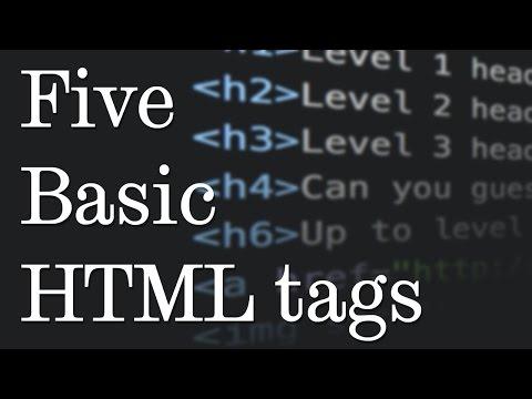 5 Basic HTML Tags