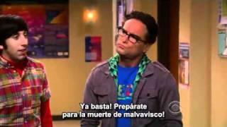 The Big Bang Theory - Sheldon and Raj Figth
