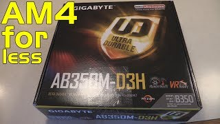 Gigabyte AB350M D3H Ryzen AM4 motherboard unboxing