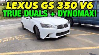 2016 Lexus GS 350 V6 F SPORT TRUE DUAL EXHAUST w/ DYNOMAX RACE BULLETS!