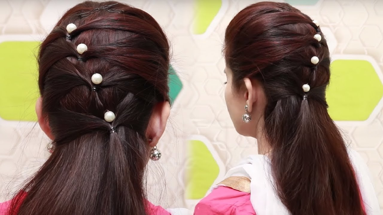 Flower Bun Hairstyle for Girls  Easy Hairstyle for Long Hair