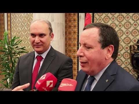 وزير الشؤون الخارجية يستقبل رئيس الهيئة العليا المستقلة للانتخابات