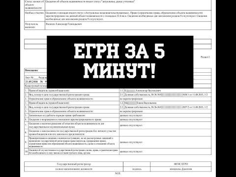 Как заказать выписку из ЕГРН в 2019 - Пошаговая инструкция получению ЕГРН!