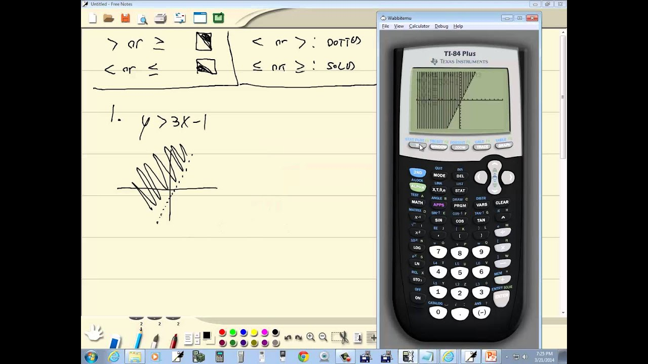 Technology in college algebra graphing linear inequalities in.