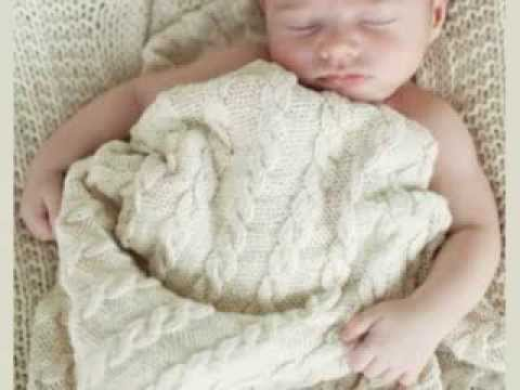 Knitting Pattern For Chunky Baby Blanket : Baby Cable Blanket Free Pattern - YouTube