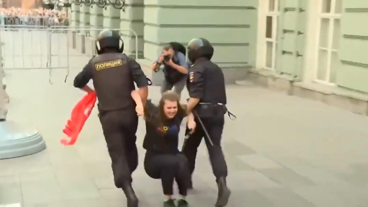 Протесты в России: как проходил разгон акций у мэрии Москвы