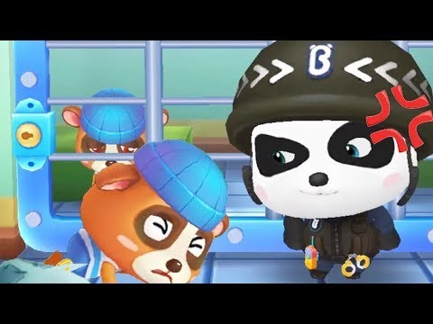 Little Panda Policeman - Baby Panda Learn Safety Tips With Police Officer - Educational Kids Game