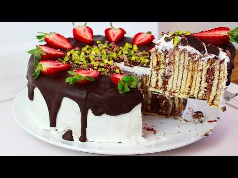 Butterkeks Kuchen  - Butterkeks Torte / Butterkekskuchen / Bisküvili Yas Pasta Tarifi