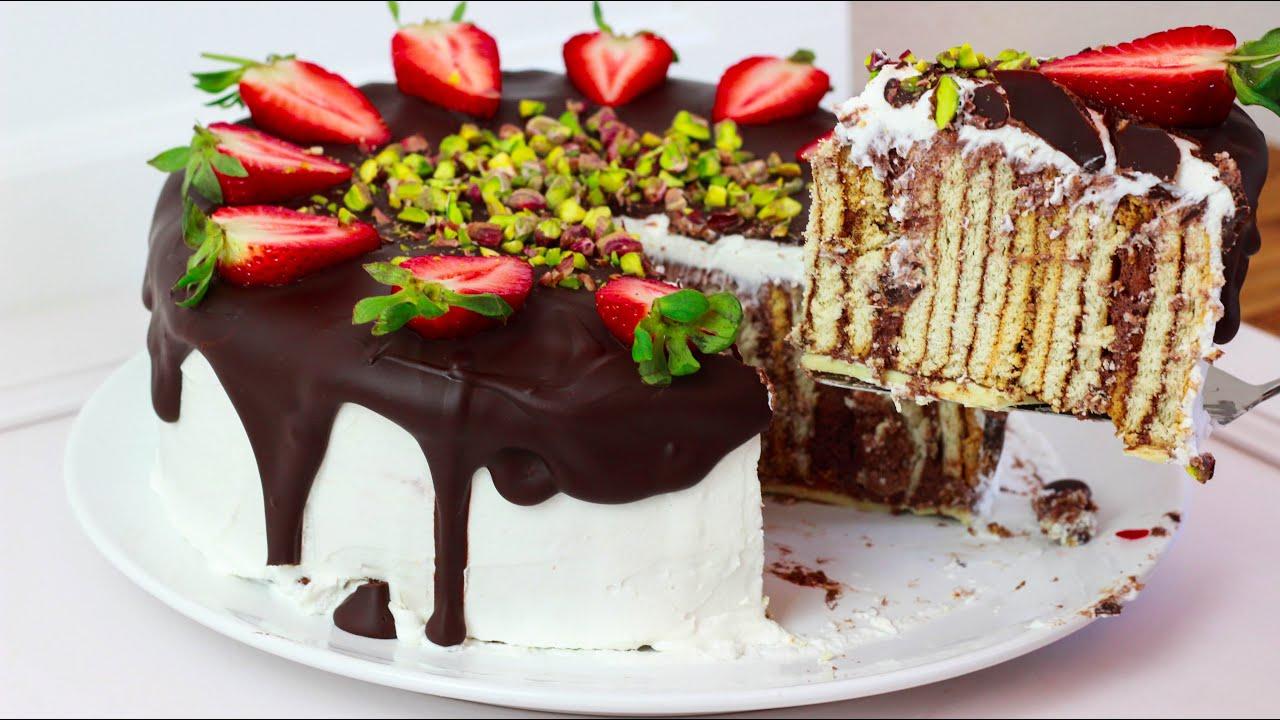 Butterkeks Kuchen - Butterkeks Torte / Butterkekskuchen ...