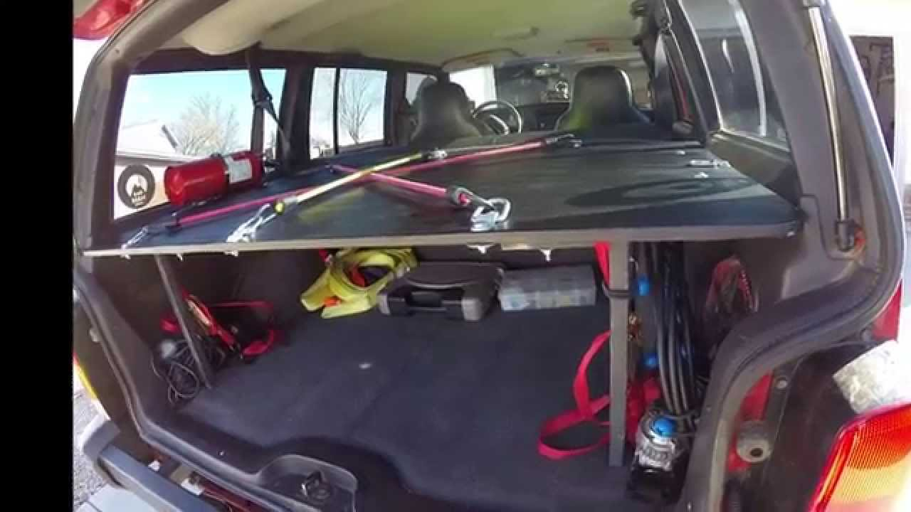 Jeep Cherokee Xj Rear Cargo Mods Youtube