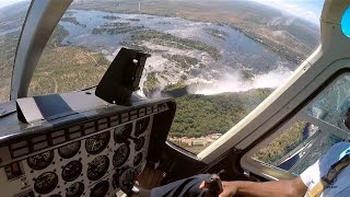 Bell 206 JetRanger over Victoria Falls