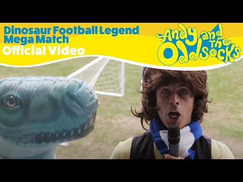 Andy And The Odd Socks - Dinosaur Football Legend Mega Match (Official Video)
