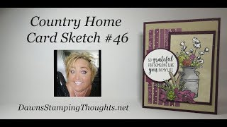 Country Home Card Sketch #46