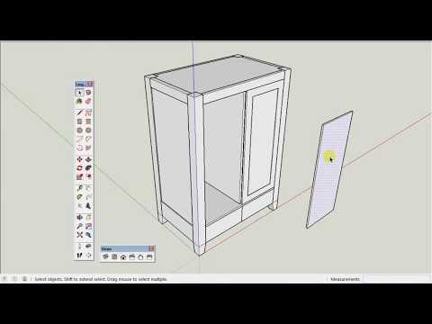 Tutorial Sketchup Membuat Lemari Dengan Detail Lengkap - TINGKAT DASAR / PEMULA
