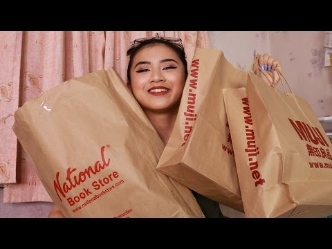 School Supplies Haul | Muji & National Bookstore | Tin
