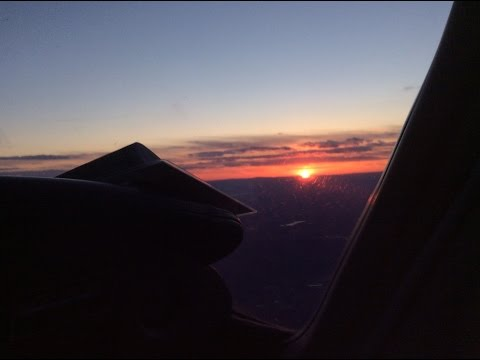 Sunset Flight from Barnes MA to Dutchess County NY