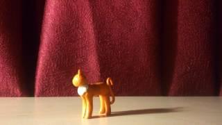 Мои фигурки котов-воителей из пластилина!