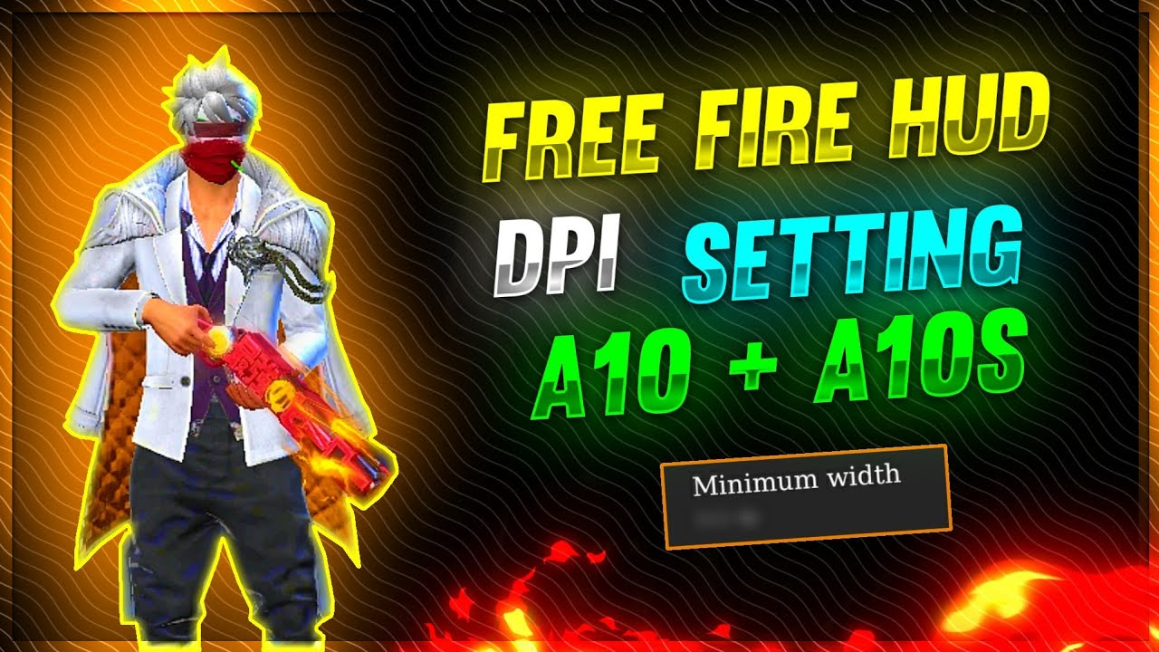 New Settings for New update Samsung A10+A10s🥳 Hud+Dpi Free Fire highlights 🧡