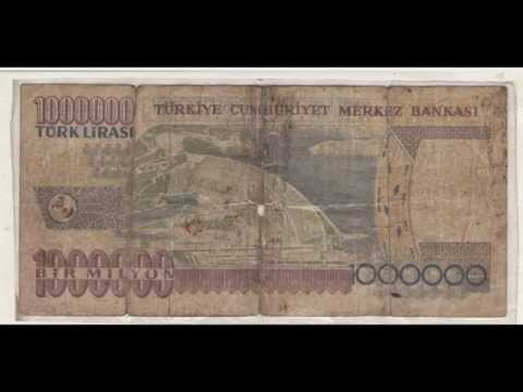 A Note Of  Turkish Lira = 31.000.000 Indian Rupees