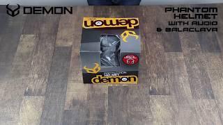 Demon Phantom Helmet with Audio & Balaclava | Unboxing
