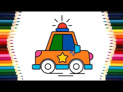 Coloring Car, Abumlance and Tow Truck | Learn Colors for Kids | Transport Vehicles name and sound