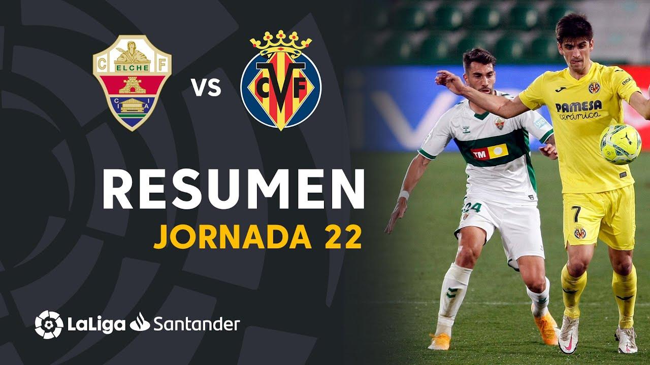 Resumen de Elche CF vs Villarreal CF (2-2)