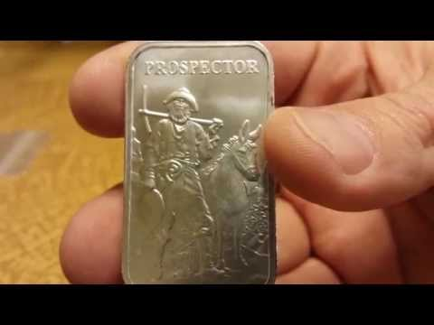 Prospector 1 oz bars for the silver stack
