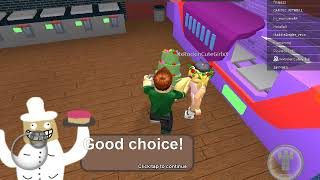 Baking a cake in Roblox with my cousin she teach me (roblox) (Billy Bob)