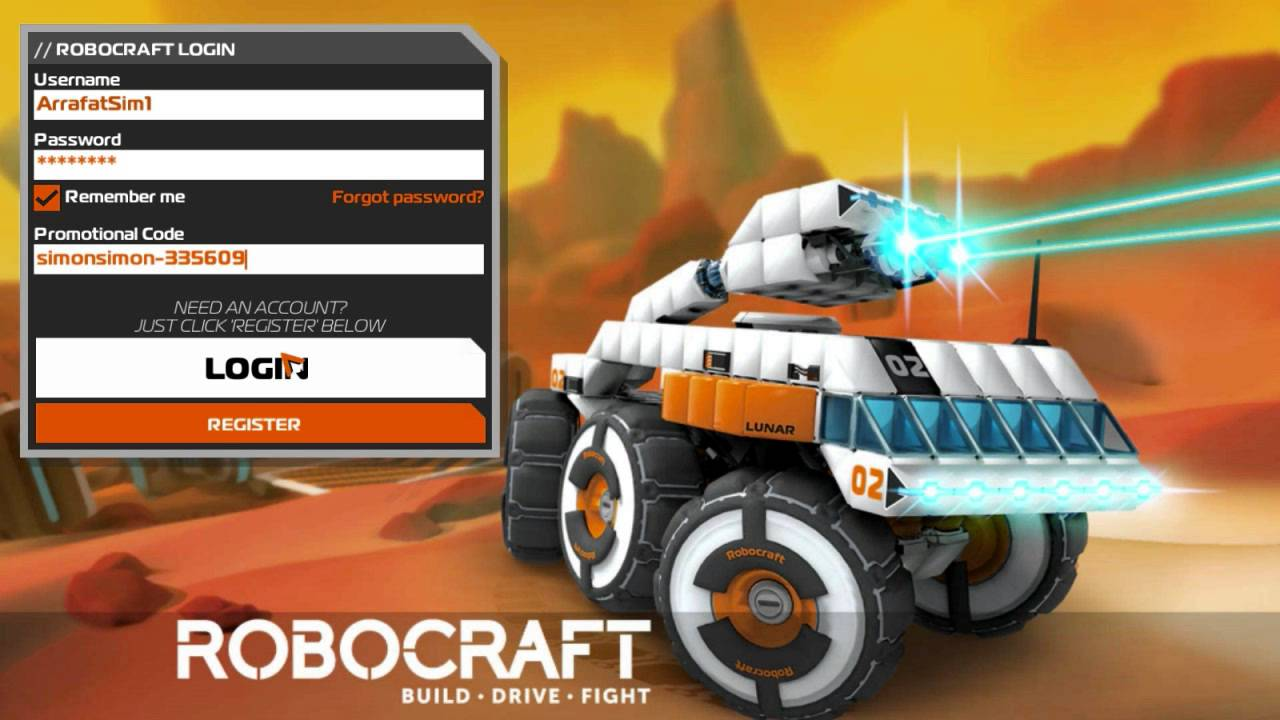 Robocraft Giveaway 100 promo code! - YouTube