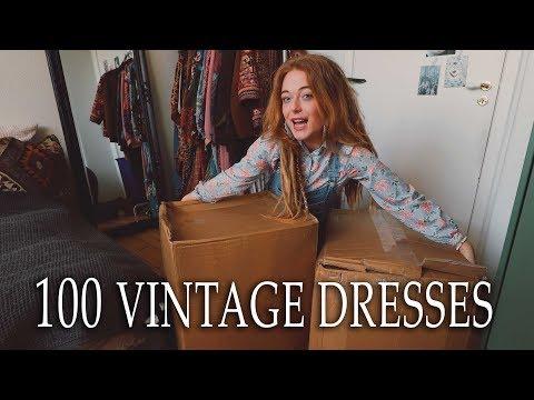 I bought 100 vintage dresses
