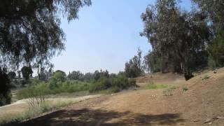Yorba Linda Lakebed Park, California - Mountain Biking And Heading Towards Lakeview To Go Home