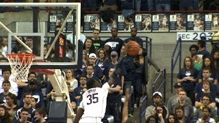 Amida Brimah Throws A Block Party In The UConn Huskie Exhibition Opener