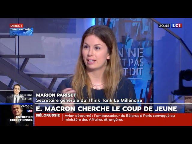 Intervention de Marion Pariset, Secrétaire générale du Millénaire sur LCI du 23/05/2021