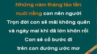 Con Yeu Me Karaoke - Bảo Thy - CaoCuongPro