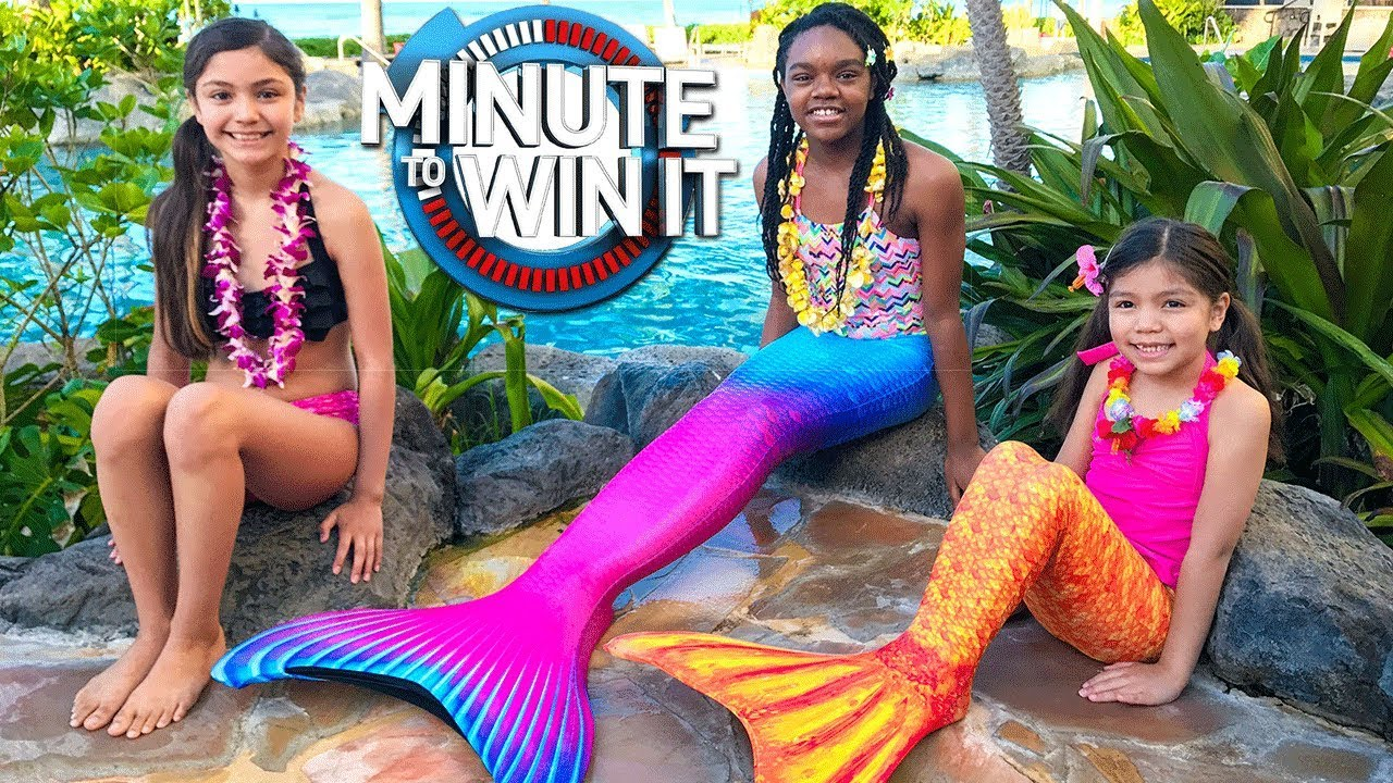 mermaid-vs-human-minute-to-win-it-challenge-with-myfroggystuff