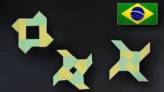 Origami: Estrela Ninja que se transforma - Instruções em Português BR