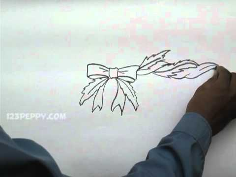 Christmas Garland Drawing.How To Draw A Christmas Garland