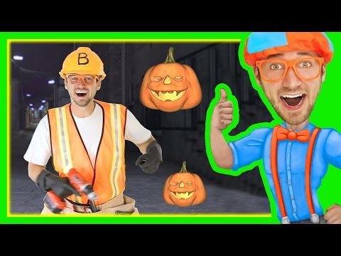 Halloween Songs for Kids with Blippi   Trick or Treat Nursery Rhyme