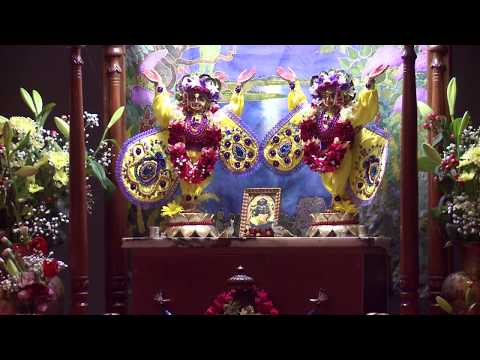 """""""Deities Greeting & Guru Puja"""" -13- HG Agnidev Prabhu BWF Lithuania 2017.01.13."""