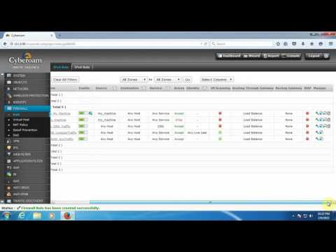How to Create Firewall Rule to Allow DNS Traffic in Cyberoam - YouTube
